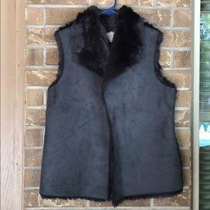 LOFT Reversible Faux Shearling Vest